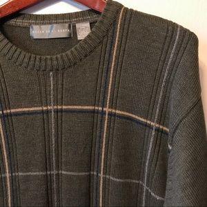 Oscar De La Renta Olive Green Sweater.